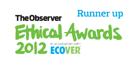 We were runners up in the Ecover Ethical Awards